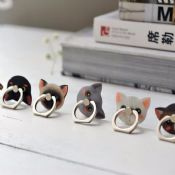 Cat Shape 360 Degree Rotating Finger Ring Phone Holder images