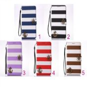 Rainbow Anchor Denim Wallet Card Phone Leather Case images