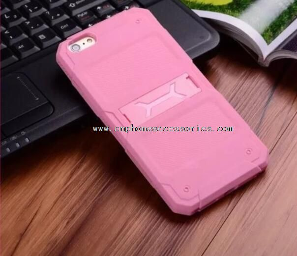 2 in 1 TPU+PC Phone shockproof stand cover for iphone6