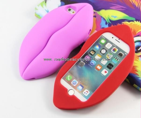 3D Fashion Sexy Lips Mouth Soft Silicone Cover Case for iphone6/6s/6plus