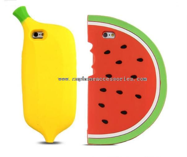 3D Fruit Silicon Phone Cases