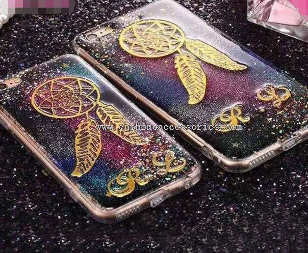 Bling Glitter Gradient Stars TPU Case For iPhone 6 / 6Plus
