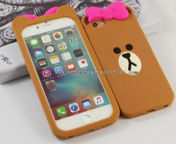 Cute Brown Bear 3D Cover For iPhone 5S/6S/6S Plus
