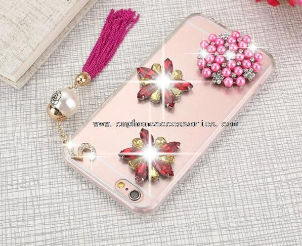 Diamonds Tassel PC Fashaion Phone Cases For iPhone 6 / 6 Plus