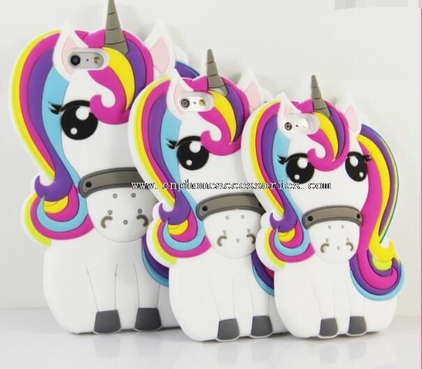 For iPhone 5 3D silicone unicorn case