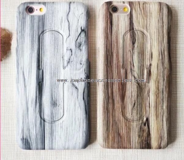 Full Protective with stand wood For iPhone 6s
