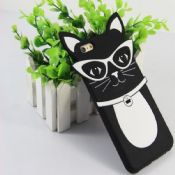3D glass cat silicone case for iPhone 6 6S Plus images