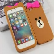 Cute Brown Bear 3D Cover For iPhone 5S/6S/6S Plus images