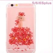 Flowers Girl Soft Crystal TPU Case For iPhone 5/6/6 Plus images