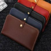 genuine leather wallet case images