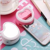 led selfie flash ring light with mirror images