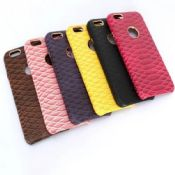 Snake skin Genuine leather case back cover for iphone 6 images