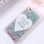Sweet heart Glitter Liquid case for iPhone 6 6S Plus images