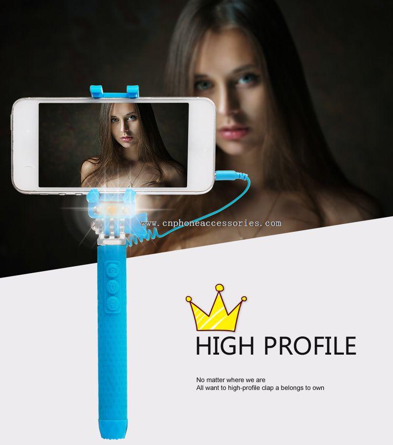 mini 3s selfie stick with selfie flash light