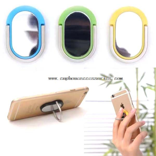 Mirror surface mobile phone ring holder