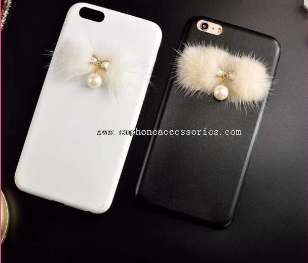 Pearl Pendant PU Case For iPhone 6 6Plus