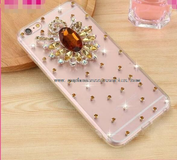 Rhinestone Shiny Clear Plastic Case For iPhone 6S/6S Plus