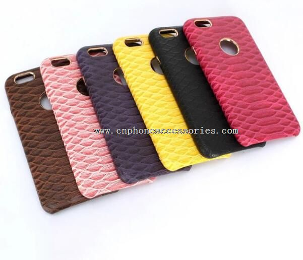 Snake skin Genuine leather case back cover for iphone 6