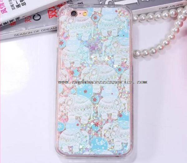 Star Dynamic Liquid Glitter Sand Quicksand phone case for iphone5 6 6s