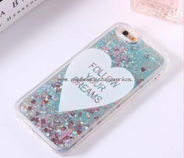Sweet heart Glitter Liquid case for iPhone 6 6S Plus