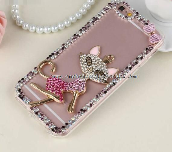 Transparent Diamonds Cover Mermaid PC Case For iPhone 6 /6 Plus