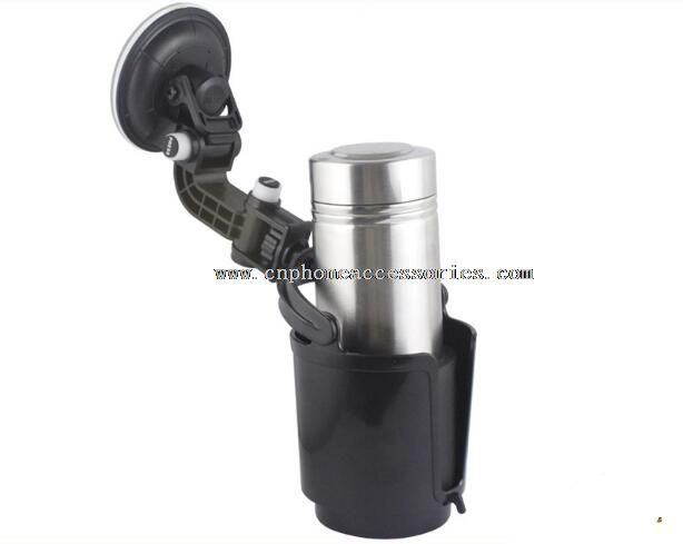 Car drink holder with suction cup