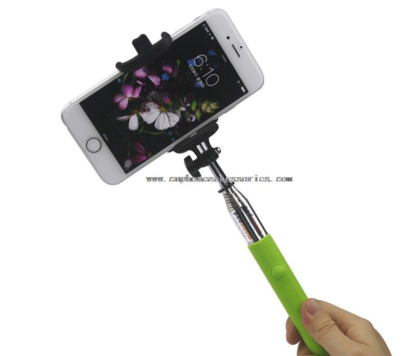 Mini Easy Monopod Selfie Stick with Bluetooth Shutter Button