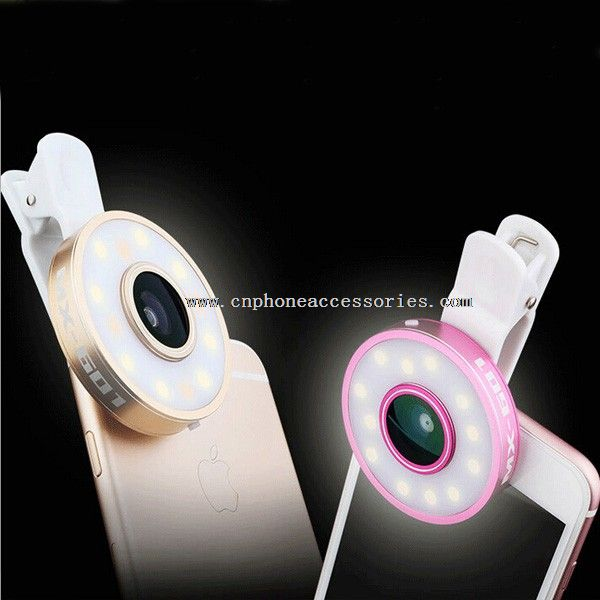Universal Smartphone 3 in 1 Camera Lens With Selfie Flash Light