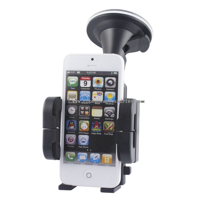 Universal smartphone cradle windshield car holder