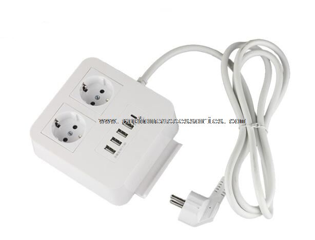 4 ports USB exsension socket charger