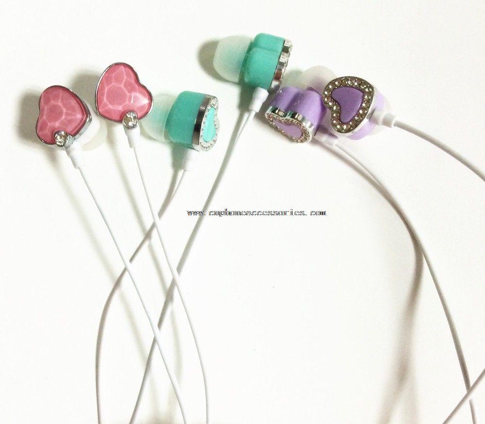 headphone With acrylic diamond