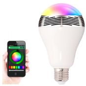 bluetooth led light speaker with power bank images