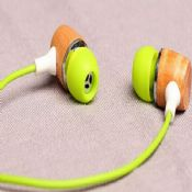 Colorful wooden earphones images