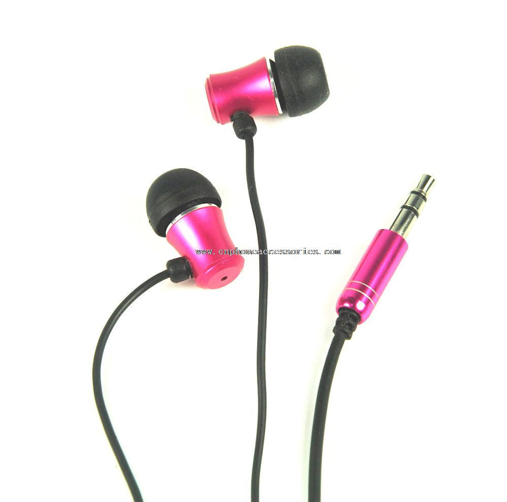 Metallic stereo earphones