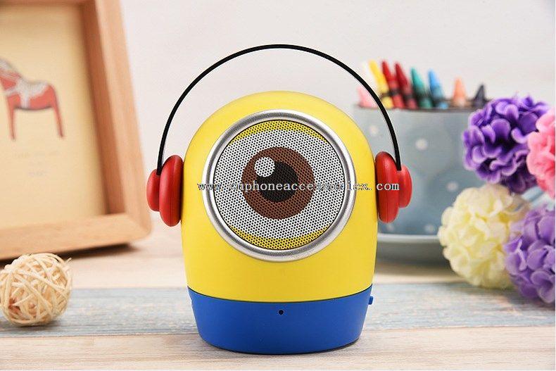 mini minion speaker with FM radio,TF card,MIC,USB