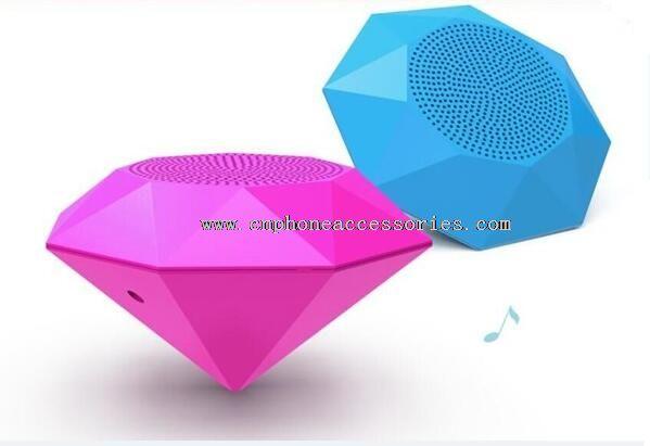 Diamond Shape Bluetooth Speaker with LED indicator