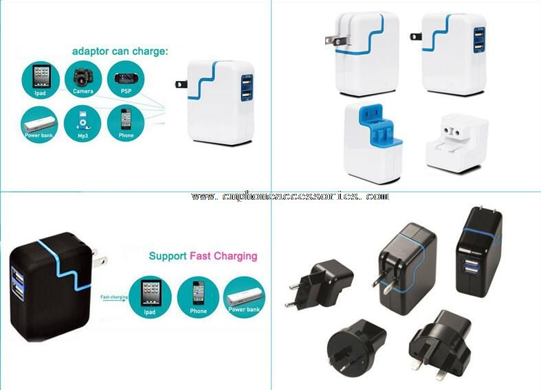 2 Ports USB 12.5W Wall Charger