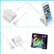 2 Ports USB Charging Station with Cradle images