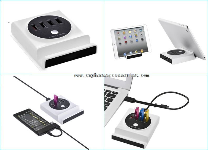 Multifunction USB Charging Station with Data transfer&OTG function