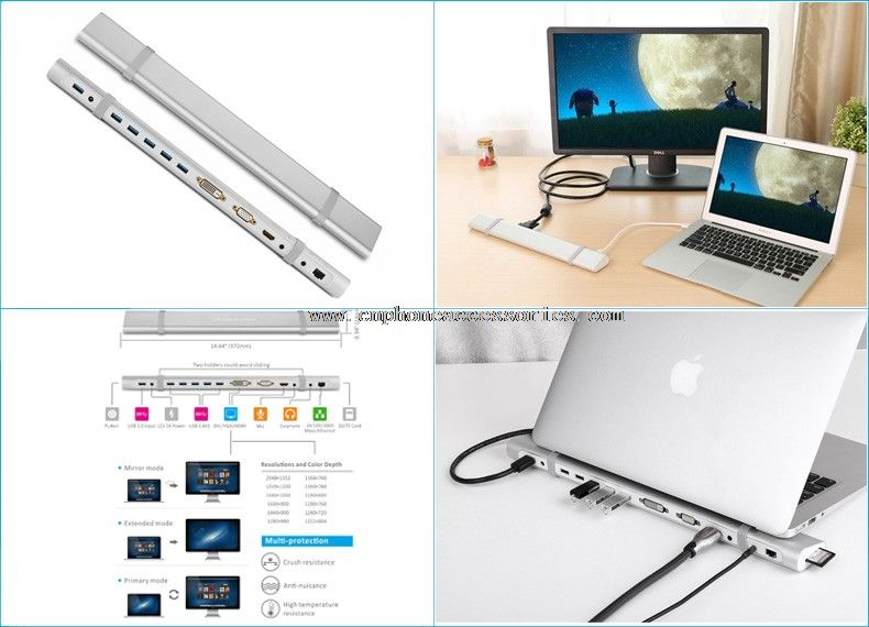 USB3.0 5 HUB port Display Docking Station