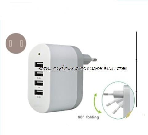 48W ce rosh usb charger with folded plug