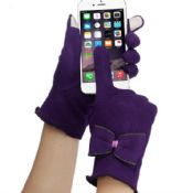 Bow Cotton Touch Screen Gloves images
