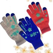 colored pattern touch screen gloves images