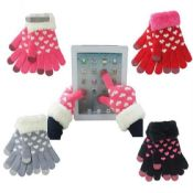 Heart Pattern Textile Touch Gloves images