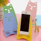 wood animal shaped mobile phone stand holder images