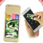 Mobile Card Pocket With Full Color Printed Cleaner images