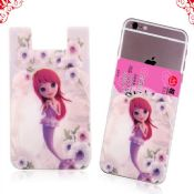 silicone pocket mobile phone card holder wallet images