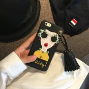 Fashionable Luxury Rivet Tassel Girls Case for iPhone 7 images
