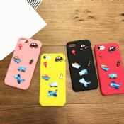 Candy Color Cartoon Transportation PC Full Cover Mobile Phone Case for iPhone 6/6 Plus/7/7 Plus images