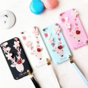 Luxury Diamond Flower Court Beer Full Cover TPU Hanging Rope Phone Case for iPhone 6/6Plus/7/7Plus images